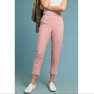 Anthropologie Essential Crepe Pants in Pink